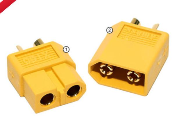 HX HP 17  XT60 gold plug set